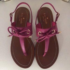EUC Kate Spade Carolina pink bow sandals, 7 & 8.5